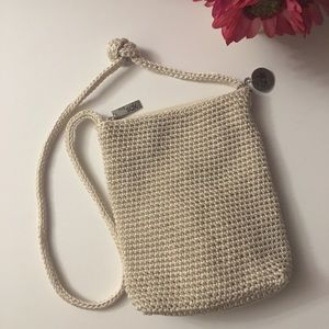The Sak off white / cream crocheted purse